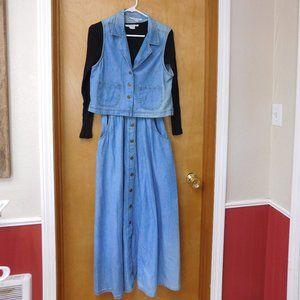 Vintage Denim Dress & Vest